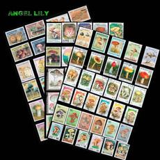 postagestamp, poststamp, Mushroom, stempel