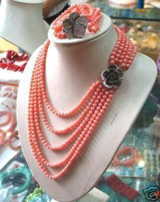 pink, Bead, Jewelry, coralnecklace