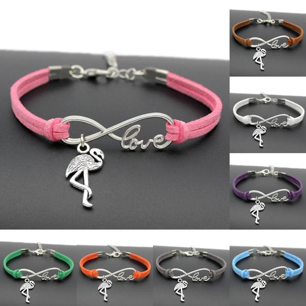 infinity bracelet, flamingobracelet, rope bracelet, Jewelry