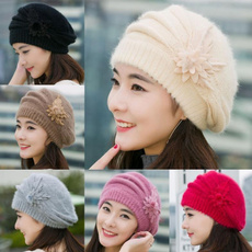 Warm Hat, Beanie, Fashion, flowerhat
