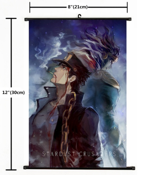 Anime Jojo JoJo/'s Bizarre Adventure Jotaro Wall Poster Scroll Home Decor 995