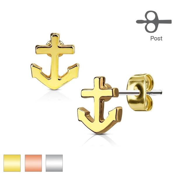 Steel, prongsetearring, stainless steel earrings, Jewelry