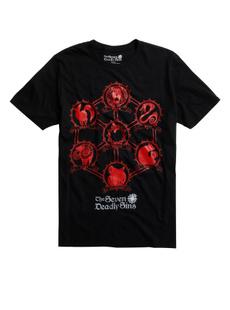 mensummertshirt, Mens T Shirt, thesevendeadlysin, mensfashionloosetshirt