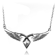 trendy necklace, Chain Necklace, angelwing, Jewelry