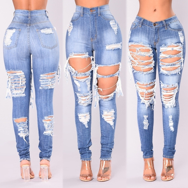 womens jeans, Plus Size, distressedjean, rippedjean