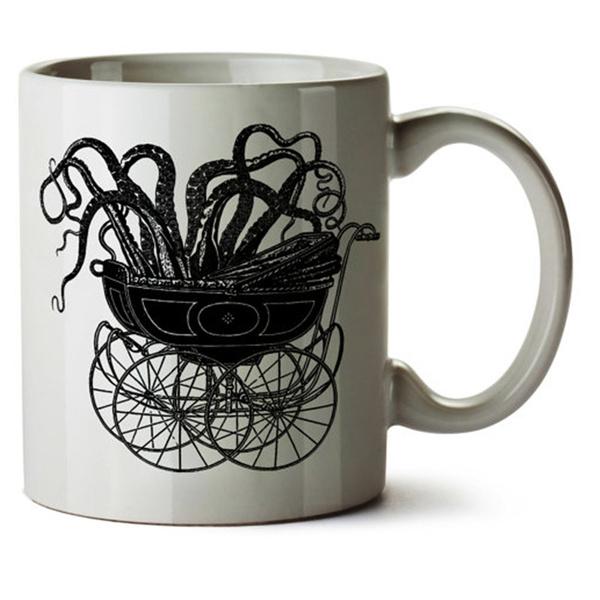 Coffee, teamug, octopusartmug, funnycoffeecup