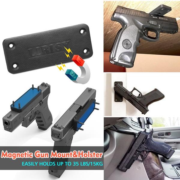 US Magnetic Handgun Mount Firearm Magnet Gun Accessories for Truck Car Desk Wall
