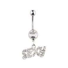Steel, DIAMOND, Jewelry, bellynaveljewelry