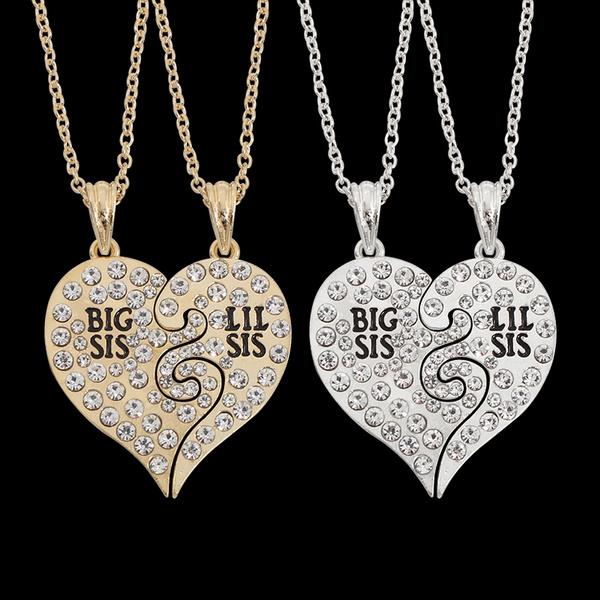heartrhinestonenecklace, Heart, rhinestonedropnecklace, Jewelry