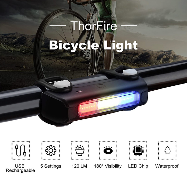 USB Rechargeable Thorfire Bike Tail Lights Ultra Bright Bicycle  Cycling Lights