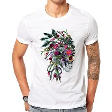 Men, Cotton T Shirt, topsamptshirt, short sleeves