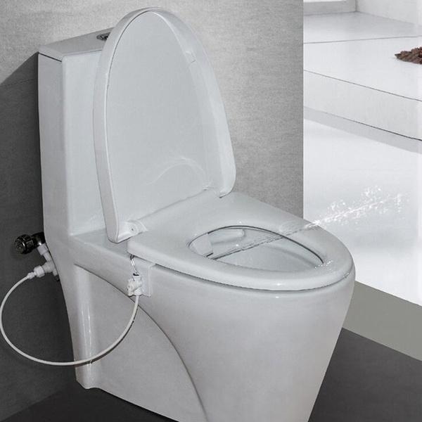 Bathroom, bidetstoiletattachment, waterspraynozzle, bidettoiletseat