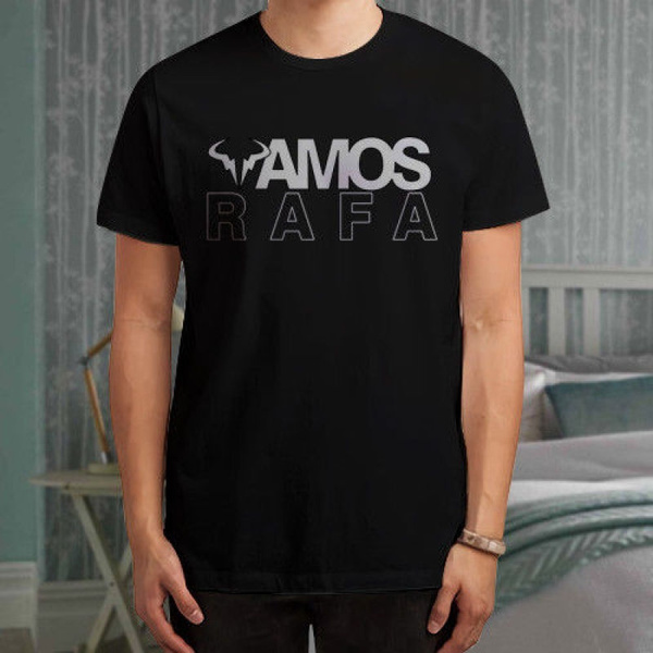 Vamos Rafael Nadal Logo Nadal Black T Shirt Shirts Tee Fashion Mens T Shirt Wish