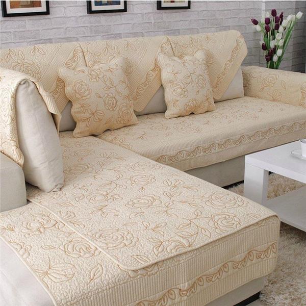 Cotton, sofasampcouche, sofaprotector, Home Decor