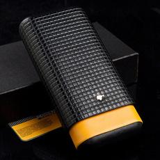 Box, case, cigarhumidor, leather