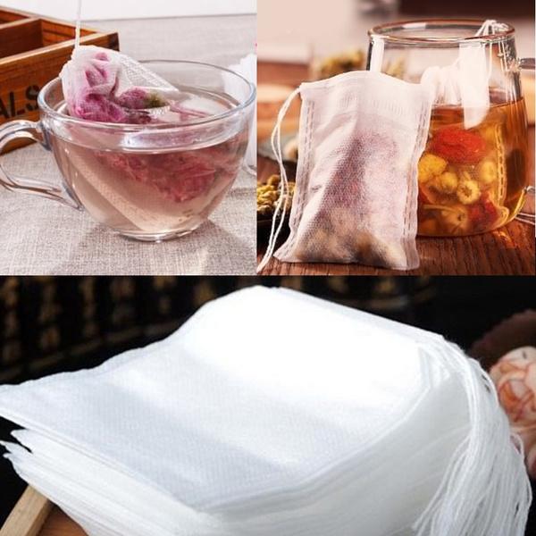 stringdrawstringteabag, paperherblooseteabag, disposablelooseteafilterbag, medicinebag