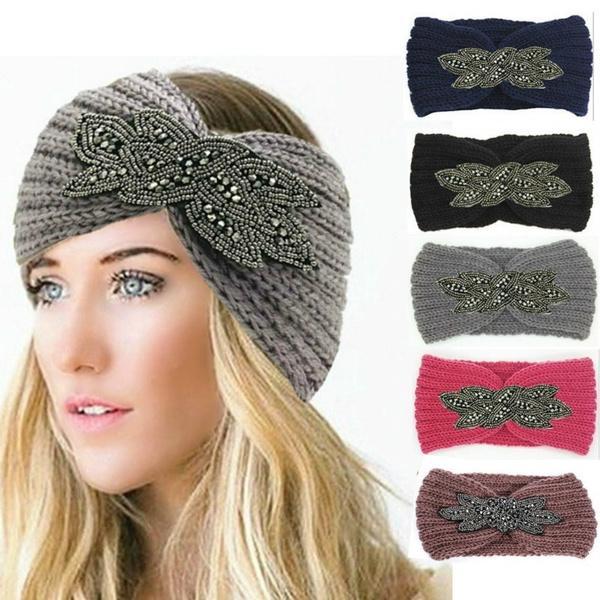 Warm Hat, beadedheadband, Flowers, winter cap