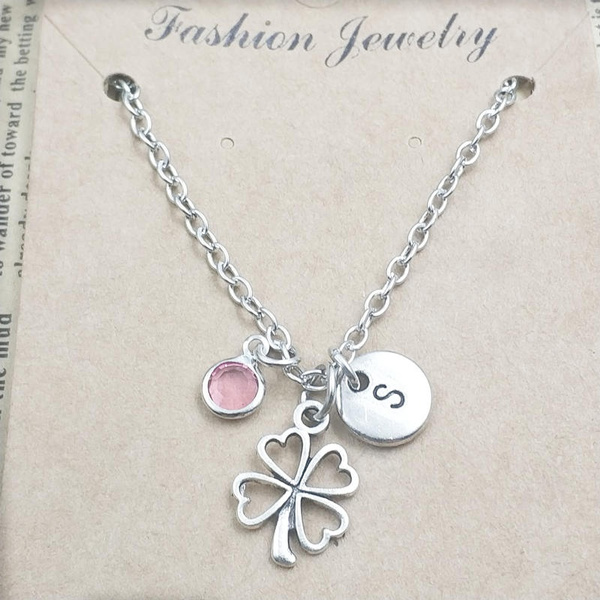 Clover, Personalized necklace, Love, Jewelry