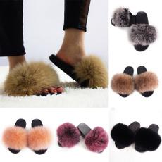 Summer, Fashion, Women Sandals, foxfur