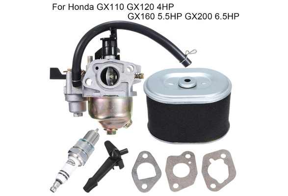 GOZAR Carburateur Carb Kit De Prise De Filtre pour Honda Gx120 Gx160 5.5 HP Gx200 6.5 HP 168F