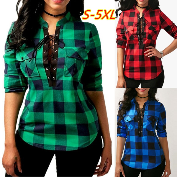 Stand Collar, blouse, Plus Size, Shirt