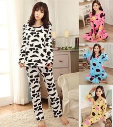 cute, Sleepwear, women's pajamas, Long Sleeve