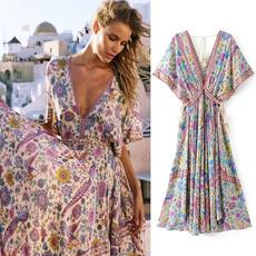 bohemia, Dress, Print, boho