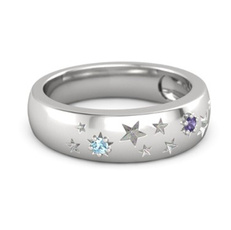 party, DIAMOND, 925 sterling silver, wedding ring