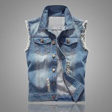 Vest, Fashion, denim jacket, slim