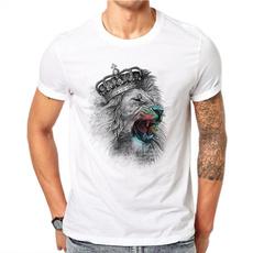 Summer, Plus Size, Cotton T Shirt, Animal