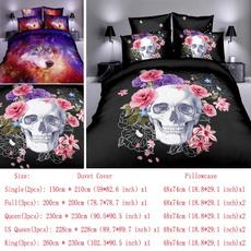 3pcsbeddingset, 3dwolf, kingsize, Home textile
