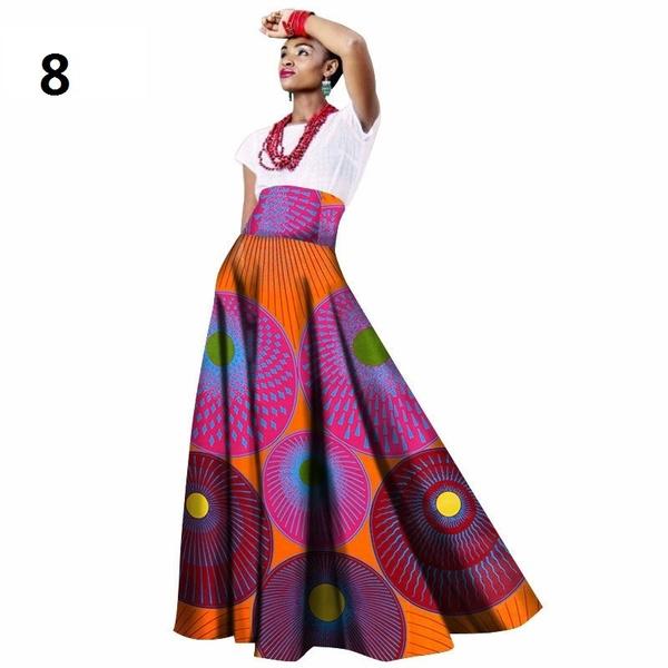 long skirt, Plus Size, bazin, Clothing