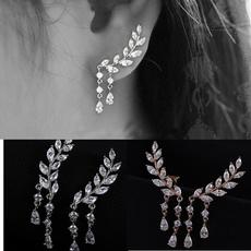 leaves, Tassels, Fashion, womencrystalearring