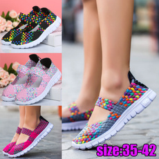 rainbow, Sneakers, Plus Size, Weaving