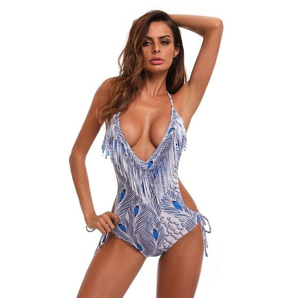Deep V-Neck, bathing suit, Fashion, bikini set