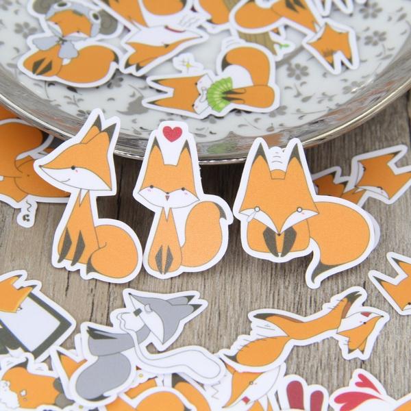 Decorative, cute, Scrapbooking, Fox