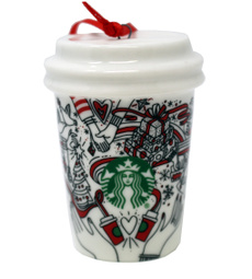 starbucksredcup, Cup, Ornament, starbuckscup