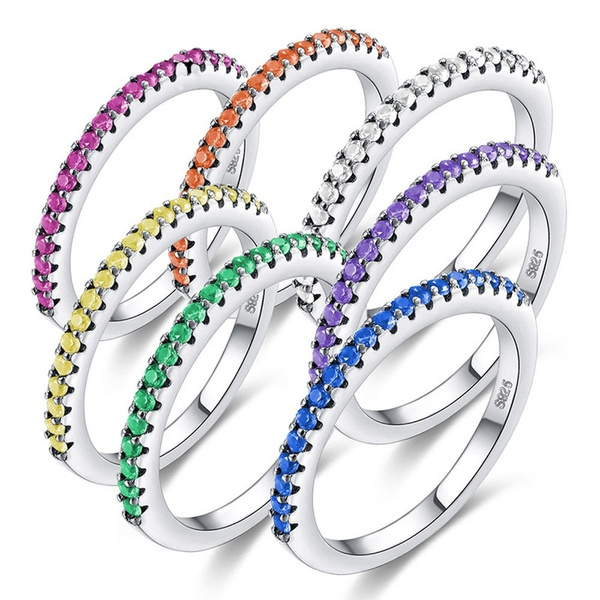 DIAMOND, 925 sterling silver, Jewelry, 925 silver rings