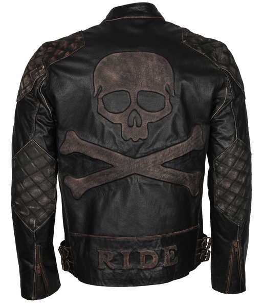 blackleatherjacket, skullleatherjacket, Fashion, Men's Fashion