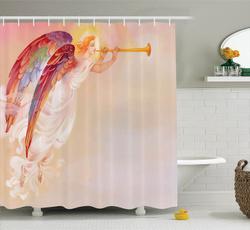 Shower, Decor, fashionshowercurtain, Angel