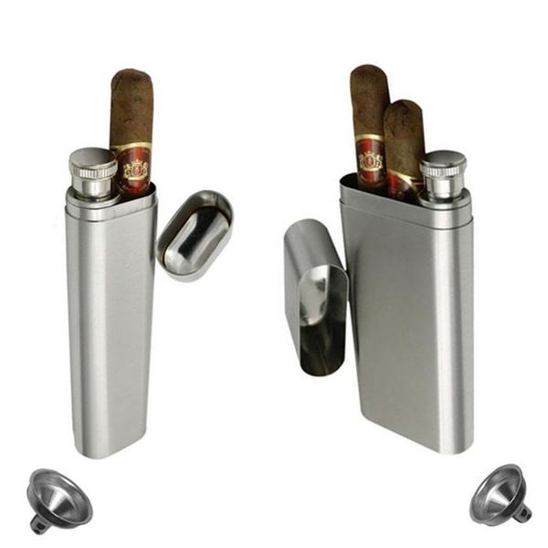 case, cigartube, Stainless Steel, Mini