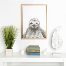 sloth, Wall Art, canvaspainting, bradypode