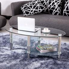 sidetable, chrome, Home & Living, glasstable