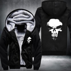 Fashion, skull sweatshirt, Long Sleeve, Men