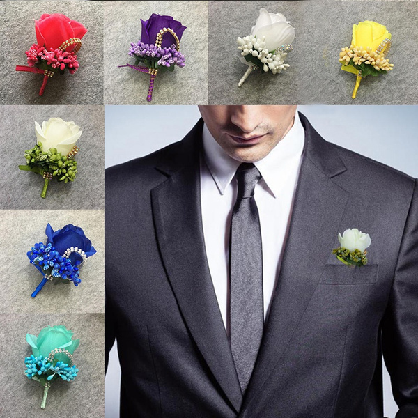 groomcorsage, boutonniere, Wedding Accessories, Crystal