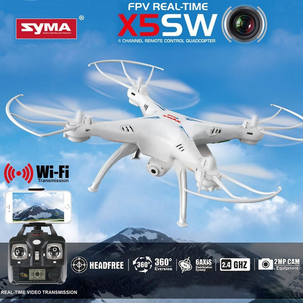 Cheerwing Syma X5sw V3 Fpv 2 4ghz 4ch 6 Axis Gyro Rc Headless Quadcopter Drone Ufo With Hd Wifi Camera White Wish