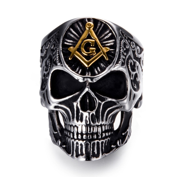 Steel, mensfashionring, Jewelry, skull