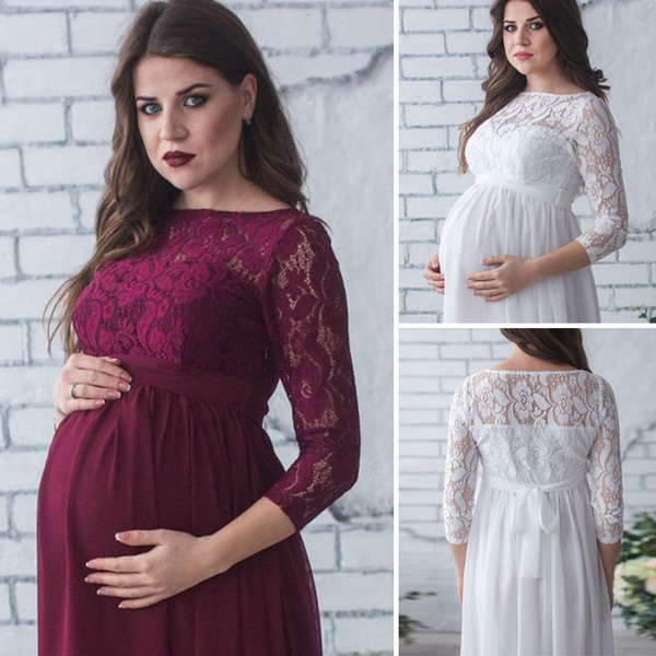 gowns, Sheer, Lace, pregnant