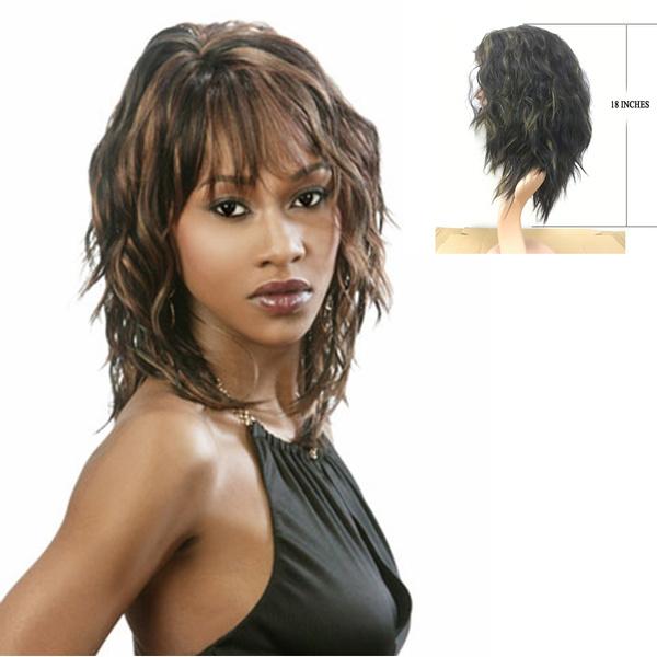wig, brown, Fashion, mediumwavewig