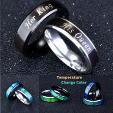 Couple Rings, Steel, titanium steel, Jewelry